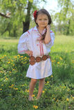 Little girl in the Ukrainian national costume Royalty Free Stock Images