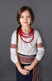 Little girl in Ukrainian national costume Stock Photography