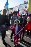 Little girl in the Ukrainian wreath Royalty Free Stock Photos