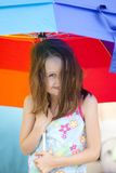 Little girl and umbrella Royalty Free Stock Image
