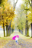 Little girl with umbrella Royalty Free Stock Photos