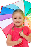 Little girl with umbrella. Royalty Free Stock Photos