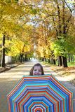 Little girl with umbrella Royalty Free Stock Photos