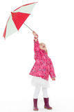 Little girl with umbrella. Royalty Free Stock Image