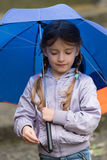 A little girl with an umbrella Royalty Free Stock Images
