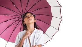 Little Girl and Umbrella XI Royalty Free Stock Photos