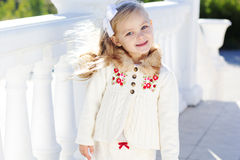 Little girl in an urban Royalty Free Stock Photography