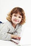 Little girl using laptop Royalty Free Stock Photo