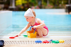 Little girl on vacation Royalty Free Stock Photos