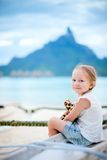 Little girl on vacation Stock Images