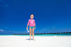 Little girl on vacation Stock Image