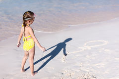 Little girl on vacation Royalty Free Stock Images