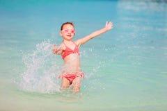Little girl on vacation Stock Photo