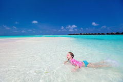 Little girl on vacation Stock Photography