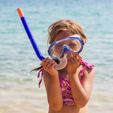 Little Girl Vacation Beach Sea Royalty Free Stock Image
