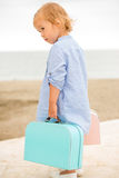 Little girl on vacation at the seaside Stock Photos
