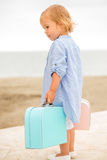 Little girl on vacation at the seaside Stock Images