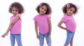 Little girl in various poses Stock Images