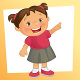 Little Girl. Vector illustration of a happy little girl Stock Photos