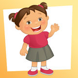 Little Girl. Vector illustration of a happy little girl Stock Photography