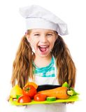 Little girl with  vegetables Royalty Free Stock Image