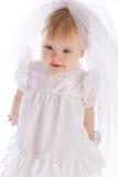 Little girl with veil Stock Photos