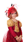 Little girl with veil posing Royalty Free Stock Photos