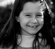 Little girl with very happy expression Royalty Free Stock Photography