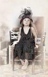 Little girl vintage portrait Stock Photo
