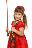 Little girl with violin Royalty Free Stock Photo