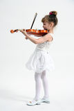 Little girl with violin Stock Image