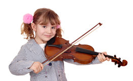 Little girl violinist Stock Images