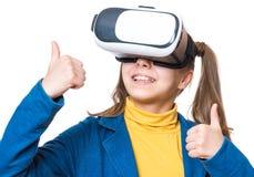 Little girl in VR glasses Stock Photography