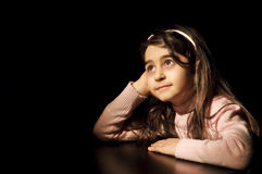 Little girl in waiting Royalty Free Stock Photo