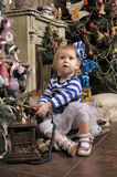 A little girl waiting for Christmas Royalty Free Stock Photo