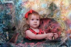 A little girl waiting for Christmas Stock Photos