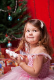 Little girl waiting for miracle Stock Photography