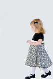 Little Girl Walking Stock Image