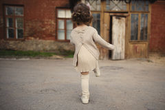 Little girl walking away Royalty Free Stock Photography