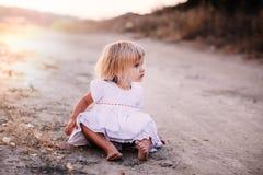 Little girl walking Stock Photos