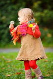 Little girl walking in the park Royalty Free Stock Photo