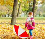 A little girl walking in the park Royalty Free Stock Photography