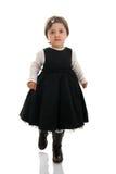 Little girl walking towards the camera Royalty Free Stock Photo