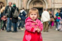 Little girl walking  in Venice Stock Photography
