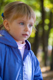 Little girl walks Stock Photo