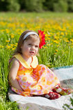 Little girl walks Royalty Free Stock Photography