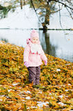 A little girl walks in Park Royalty Free Stock Photo