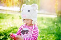 Little girl walks in the park Royalty Free Stock Photography
