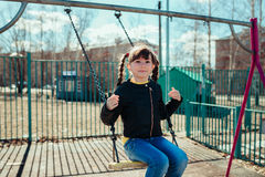 Little girl. Girl walks in the park on a sunny day Stock Photography