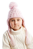 Little girl in warm clothes. Stock Image
